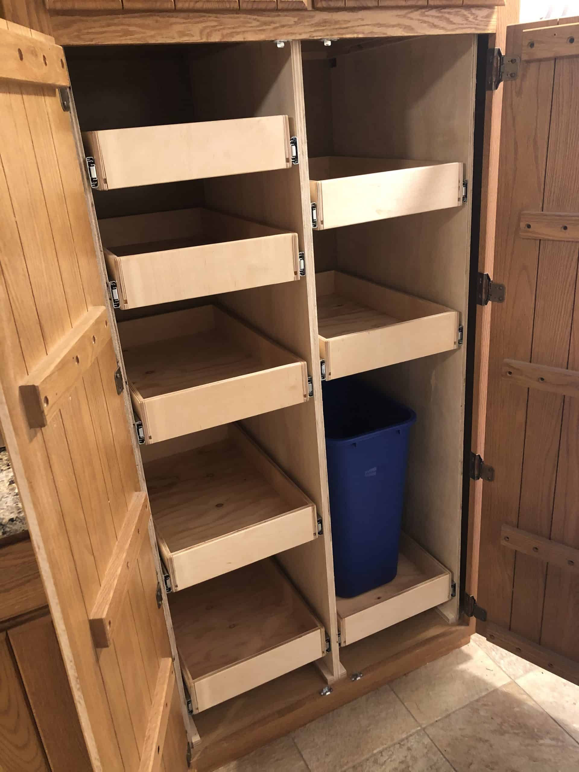 Diy Pull Out Pantry Shelves Incredible 5 Part Guide To Transform Your Kitchen Organization Weekend Diy Projects